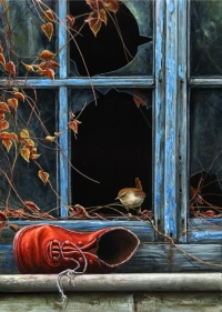 1141-red-boot-and-wren