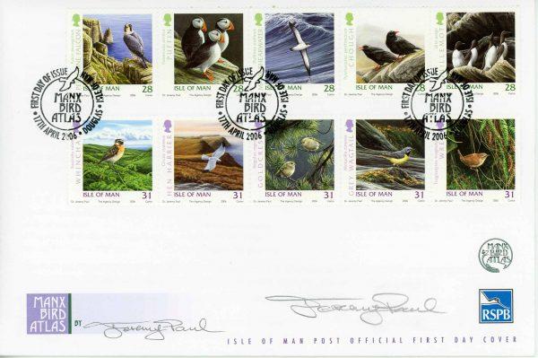 Manx Bird Atlas 2006 fdc