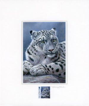 snow leopard stamp